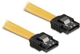 DeLOCK SATA Kabel gelb 0.5m mit Arretierung, gerade/gerade (82477)