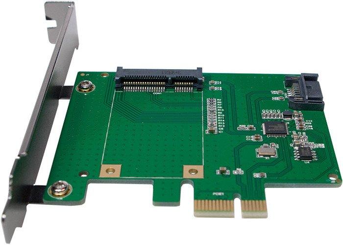 LogiLink 1x mSATA/1x SATA, PCIe x1 (PC0077)