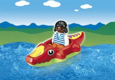 playmobil - 1.2.3 - Child with Crocodile Raft (6764) -- via Amazon Partnerprogramm