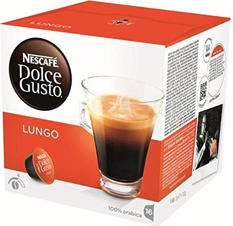 Nestlé Nescafe Dolce Gusto Caffe Lungo coffee capsules, 16-pack -- provided by bepixelung.org - see http://bepixelung.org/2097 for copyright and usage information