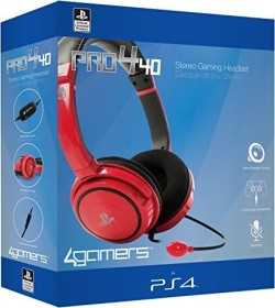 4Gamers Pro4-40 Stereo Gaming Headset rot