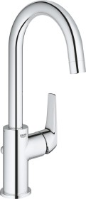 """Grohe BauFlow one-hand-bathroom sink tap 1/2"""" L-Size with drain remote chrome (23753000)"""