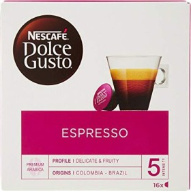 Nestlé Nescafe Dolce Gusto Espresso coffee capsules, 16-pack