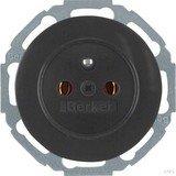 Berker Serie R.classic Steckdose mit Schutzkontaktstift, schwarz glänzend (6768792045)