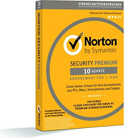 Symantec: Norton Security Premium 3.0, 10 clients (German) (Multi-Device) (21355488) -- via Amazon Partnerprogramm