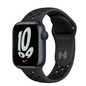 Bild Apple Watch Nike Series 7 (GPS) 41mm Aluminium Mitternacht mit Sportarmband anthrazit/schwarz (MKN43FD)
