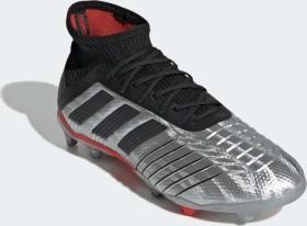 adidas Predator 19.1 FG silver metallic/core black/hi-res red (Junior) (G25790)