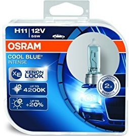 Osram Cool Blue Intense H11 55W, 2er-Pack Box (64211CBI-HCB)