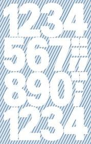 Avery Zweckform® Zahlen Polyester in weiß selbstklebend 2 Bögen Klebezahlen