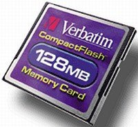 Verbatim CompactFlash Card (CF) 128MB (47004)