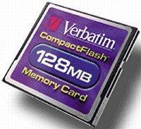 Verbatim CompactFlash Card (CF) 128MB (47004)