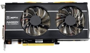 XFX Radeon HD 6850 820M Black Edition Dual Fan, 1GB GDDR5, 2x DVI, HDMI, DisplayPort (HD-685X-ZDBC)