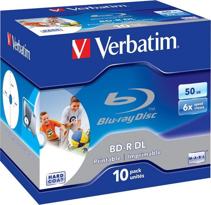 Verbatim BD-R DL 50GB 6x, 10er Jewelcase Wide Inkjet printable (43736)