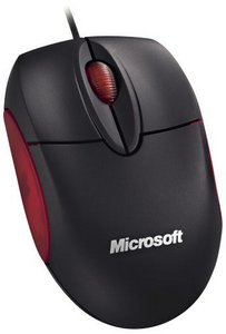 Microsoft Notebook Optical Mouse schwarz, USB (M20-00007/M20-00015)