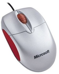 Microsoft Notebook Optical Mouse silber, USB (M20-00003/M20-00014)