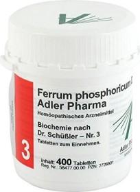 Adler 3 Ferrum phosphoricum D12 Tabletten, 400 Stück