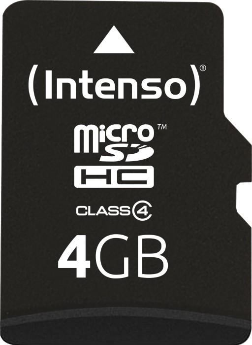 Intenso R21/W5 microSDHC 4GB Kit, Class 4 (3403450) -- (new design)