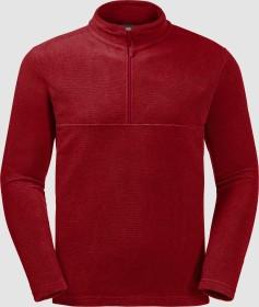 Jack Wolfskin Arco Shirt langarm dark lacquer red stripes (Herren) (1701483-8032)