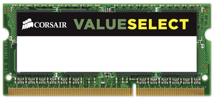 Corsair ValueSelect SO-DIMM 8GB PC3-12800S CL11-11-11-28 (DDR3-1600) (CMSO8GX3M1A1600C11)