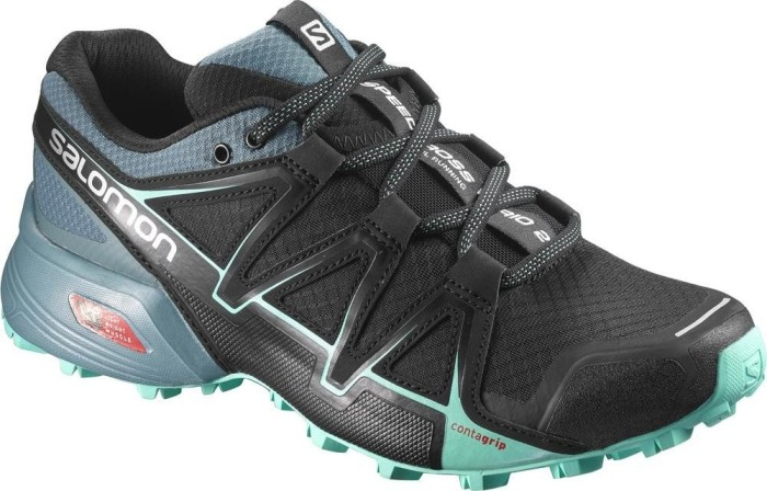 Salomon Damen Speedcross Vario 2 Trailrunning-Schuhe, Schwarz/Blau (Black/North Atlantic/Biscay Green), Gr. 39 1/3