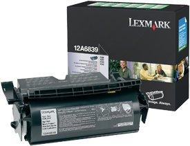 Lexmark Return Etiketten Toner 12A6839 schwarz hohe Kapazität