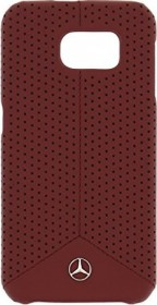 Mercedes-Benz Hard Cover Leather perforated for Samsung Galaxy S6 red (MEHCS6EPERE)