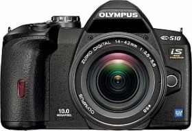 Olympus E-510 schwarz Gehäuse Travelling Pro Kit (E0413683)