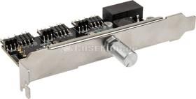 Lamptron CFP30, silber, PCI-Slotblende, Licht- und Lüftersteuerung 3-Kanal (LAMP-CFP30S)