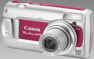 Canon PowerShot A470 red (various bundles)