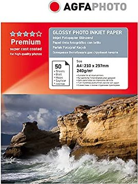 AgfaPhoto photo paper glossy A4, 240g/m², 50 sheets (AP24050A4)