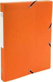 Exacompta Archivbox aus Kunststoff A4, blickdicht, 25mm, orange (59689E)