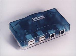D-Link DU-H4SMK 4-port USB-Hub mit 2 x PS/2, 1 x seriell