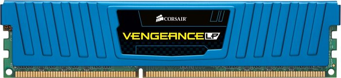 Corsair Vengeance low profile blue DIMM 8GB PC3-12800U CL10-10-10-27 (DDR3-1600) (CML8GX3M1A1600C10B)