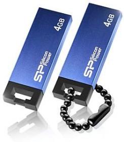 Silicon Power Touch 835 blau 4GB, USB-A 2.0 (SP004GBUF2835V1B)