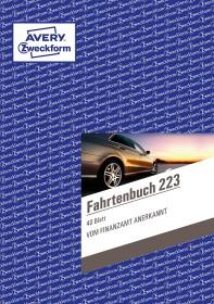 Avery-Zweckform Fahrtenbuch mit Jahresabrechnung Formularbuch A5, 40 Blatt (223)