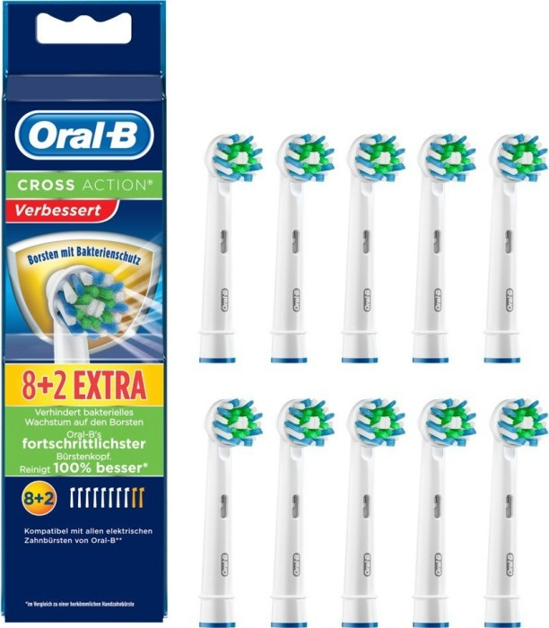 Braun Oral-B Aufsteckbürsten Cross Action Bakterienschutz 12stk MEGA PREIS !