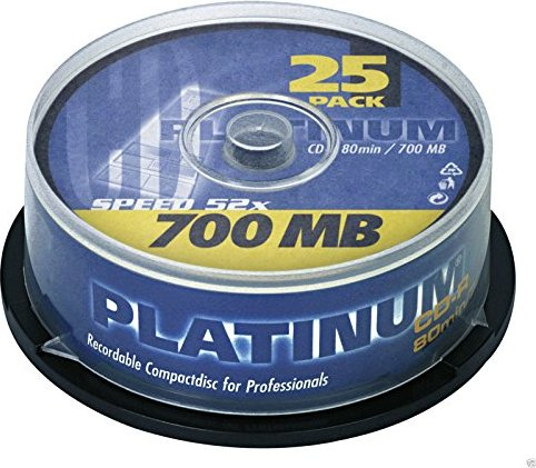 BestMedia Platinum CD-R 80min/700MB, 25-pack Spindle (100119)