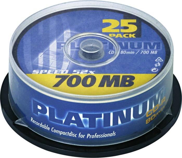BestMedia Platinum CD-R 80min/700MB, 25er Spindel (100119)
