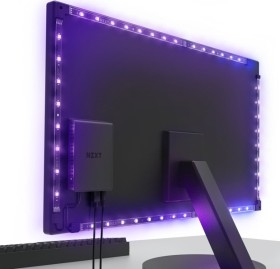 "NZXT HUE 2 Ambient V2 RGB Lightning Kit, LED Controller für 26""-32"" Monitore, schwarz, RGB-Beleuchtungsset (AC-HUEHU-B2)"
