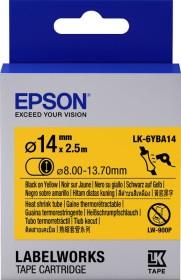 Epson LK-6YBA14 shrink tubing 14mm, black/yellow (C53S656905)