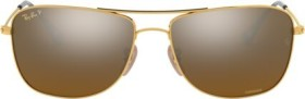 Ray-Ban RB3543 Chromance 59mm gold/bronze mirror (RB3543-001/A3)