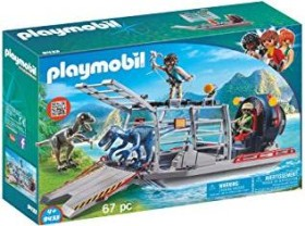playmobil The Explorers - Propellerboot mit Dinokäfig (9433)