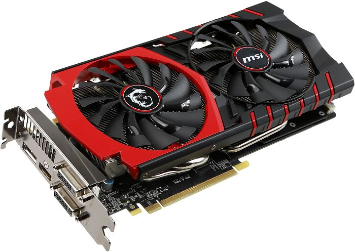 MSI GeForce GTX 970 Gaming 4G, 4GB GDDR5, 2x DVI, HDMI, DisplayPort (V316-001R)
