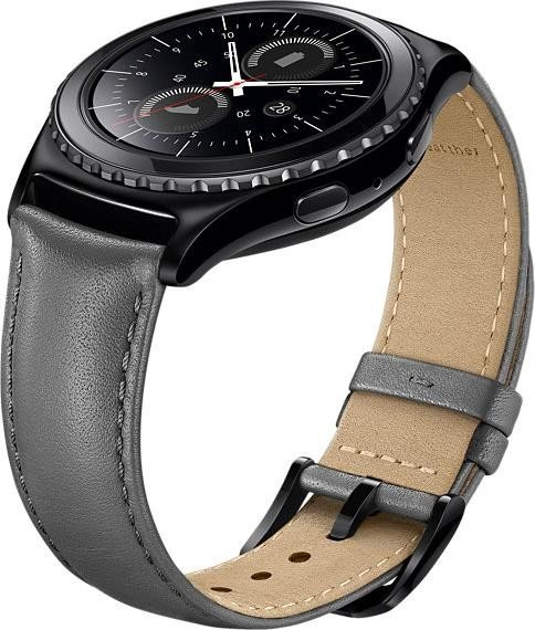 Samsung Lederarmband für Gear S2 Classic grau (ET-SLR73MS)