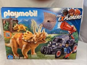 playmobil The Explorers - Offroader mit Dino-Fangnetz (9434)