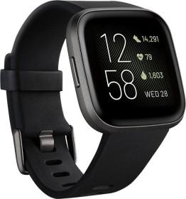 Fitbit Versa 2 Aktivitäts-Tracker black/carbon aluminium (FB507BKBK)