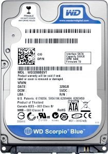Western Digital Scorpio Blue 1TB, 4KB sectors, SATA 3Gb/s (WD10TPVT)