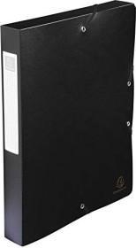 Exacompta Archivbox aus Kunststoff A4, blickdicht, 40mm, schwarz (59781E)
