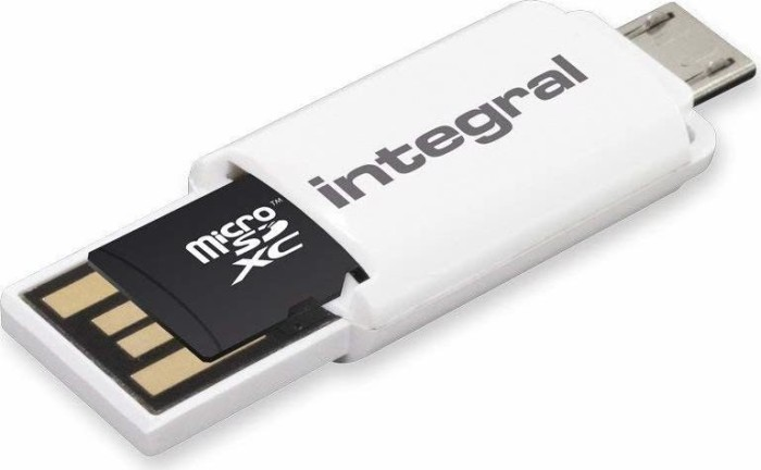 Integral On-The-Go microSD Cardreader, USB-A 2.0/USB 2.0 Micro-B [Stecker] (INCROTGMSD)