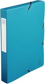 Exacompta Archivbox aus Kunststoff A4, blickdicht, 40mm, grün (59783E)